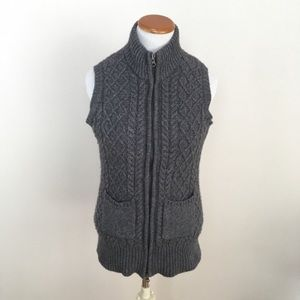 JOIE Cable Knit Cashmere Wool Vest Sz Medium